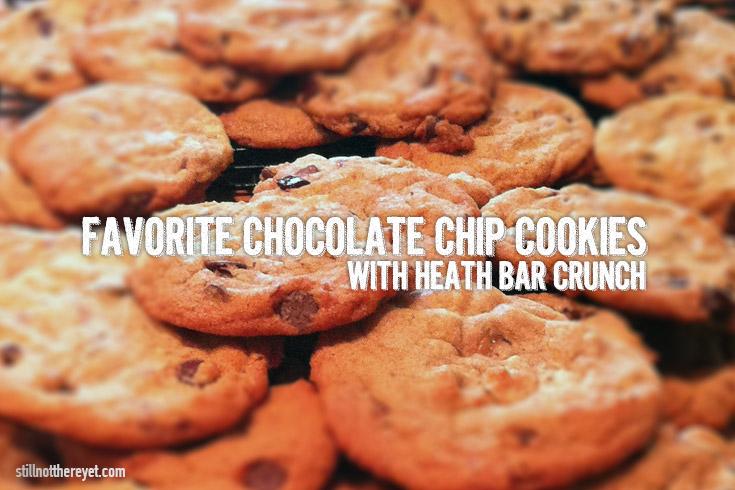 Chocolate Chip Cookies with Heath