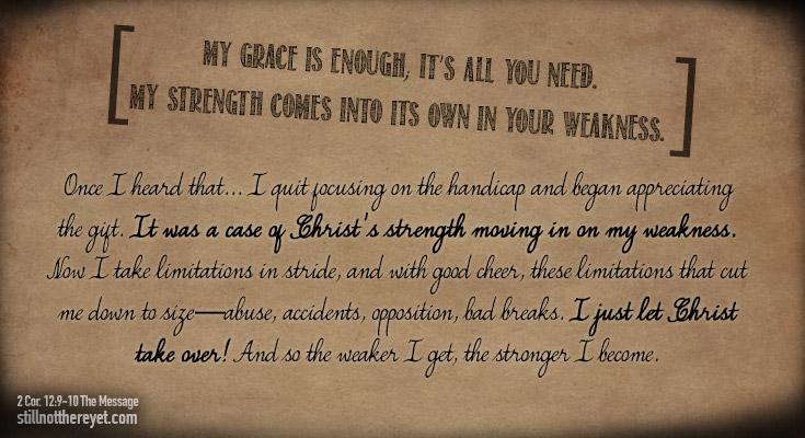 2 Corinthians 12: 9-10