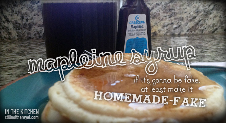 Homemade-fake Maple Syrup