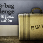 My 3-bag challenge toward living with less (part 1)