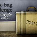 My 3-bag challenge toward living with less (part 2)