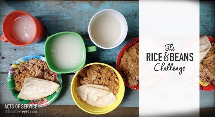 We challenge you to forgo dinner out in exchange for eating a meal of rice and beans at home... then to send the money saved to help relief efforts in Nicaragua