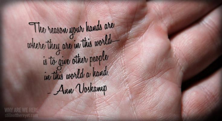 Ann Voskamp quote // photo courtesy of Ben Hosking