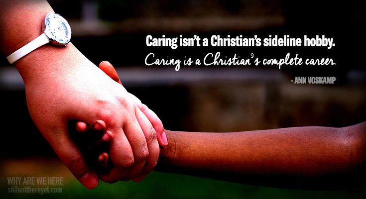 Caring isn't a Christian's sideline hobby.  Caring is a Christian's complete career. // photo courtesy of Don Bosco