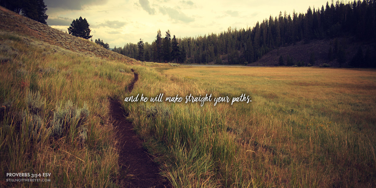 and he will make straight your paths. (Proverbs 3:5-6 ESV)