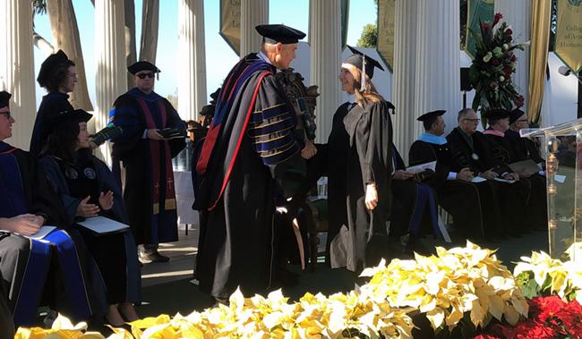 Me graduating!