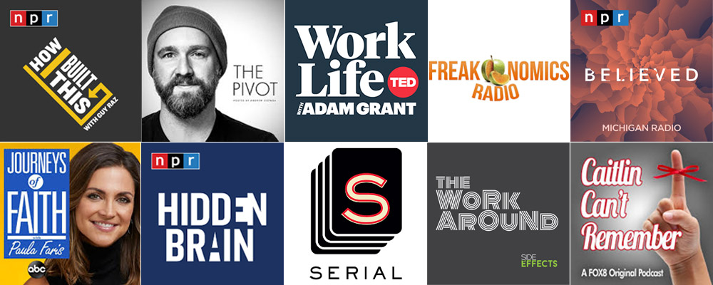 A few of my current favorite podcasts... in no particular order