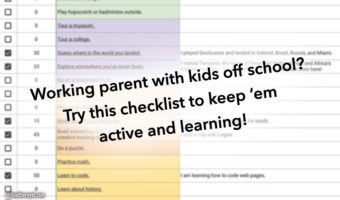 Checklist of daily activities for kids off school while parents work from home